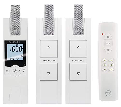 RADEMACHER elektrische Gurtwickler Starterset für 3 Rolläden. Smarte Rolladensteuerung mit Rolladen Gurtwickler (230V) und Handsender. -