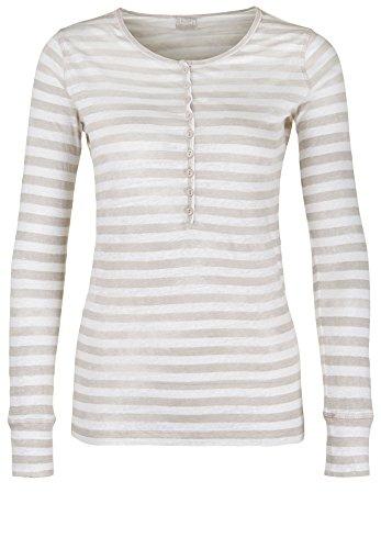 BLAUMAX Damen Longsleeve MOSCOW STRIPE LINEN beige stripe