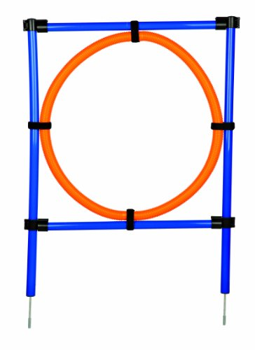 Artikelbild: Trixie 3208 Dog Activity Agility Ring, 115 × ø 3 cm, ø 65 cm, orange/blau