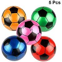 BESTOYARD Juguete Balón de Fútbol Hinchable para Juego de Playa de Piscina  de Niños 5 Pcs c1a32fa9c0769