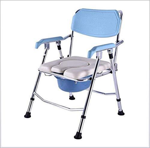 Kommodenstuhl, Mobilitätshilfe für die Erwachsenenmedizin Ältere Menschen mit Behinderung Medizinischer Stuhl Verwendung Als Alleinstehender Stuhl Oder mit Toilette, Drop-Arm-Kommode, Whee -