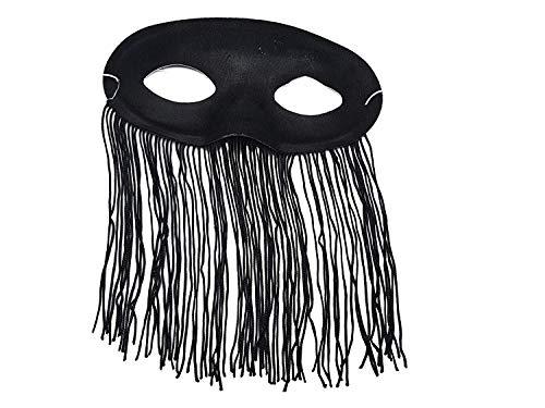 PICCOLI MONELLI Venezia Damen Sexy Maske schwarz Karneval ()