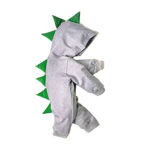 Anzug Mao Kostüm - Wetry Kinder Baby Dinosaurier Strampler,Overall Jumpsuit Spielanzug Reißverschluss mit Kapuze Jungen Mädchen