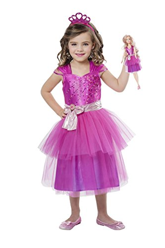 amscan 999562 Disney Prinzessinen Kinderkostüm Barbie Princess und Mini Me, 110-128 cm