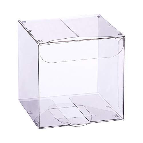BENECREAT 30PACK 7x7x7cm Geschenkbox Transparent fur Schmuck Speicher Display, Hochzeit, Valentinstag, Muttertag, Geschenk, Schokolade, Süßigkeiten