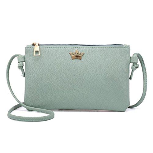 Beikoard vendita calda borsa a tracolla in pelle da donna borsa a tracolla in pelle a tracolla colore puro (verde)