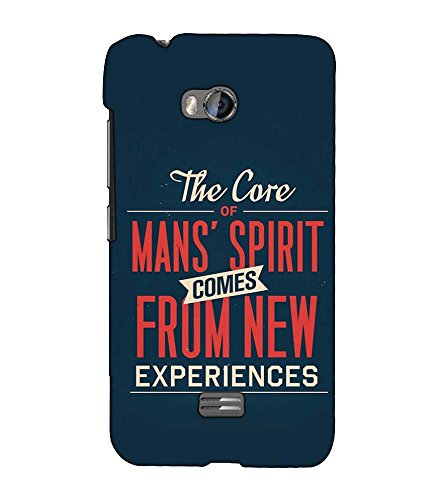 Fuson Designer Back Case Cover for Micromax Bolt Q336 (The Core Of Mans Spirit)  available at amazon for Rs.397