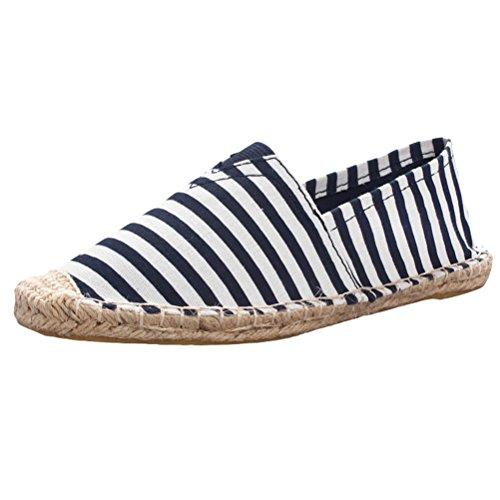 Vogstyle Unisex Espadrillas Basse Casuali Scarpe Slip On Flats Stile 15-2-Blu