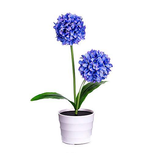 FeiliandaJJ Solar Zwiebel Kugel Blume Lichter Künstliche Topfblume Bonsai LED Licht Kinder Nachtlicht Innen Muttertag Geschenk Haus Deko (Lila)