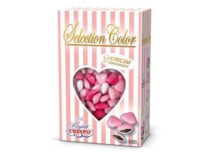 Confetti crispo | selection color cuoricini mignon | rosa | 500 gr