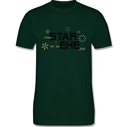 JGA Junggesellenabschied - Star Ehe - Herren Premium T-Shirt Dunkelgrün