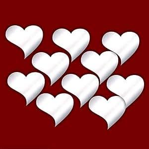 Heart Wall Art Decoration Home Decor decorazione per soggiorno, nursery, porte, finestre, bagno, frigo, bambino, bambini