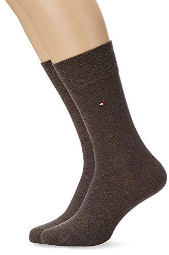 Tommy Hilfiger Herren Th Men Sock Classic 2er Pack Grün (Walnut Melange 266)