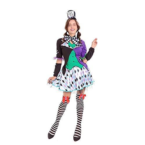 Weibliche Mad Hatter Halloween Kostüm - HENONG EU Alice Mad Hatter Kostüm
