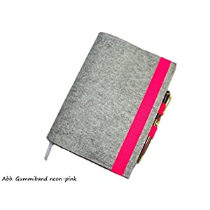 Kalenderhülle Hülle Einband Wollfilz mit Stifthalter für Din A5 Buchkalender, Notizbuch oder Maßanfertigung