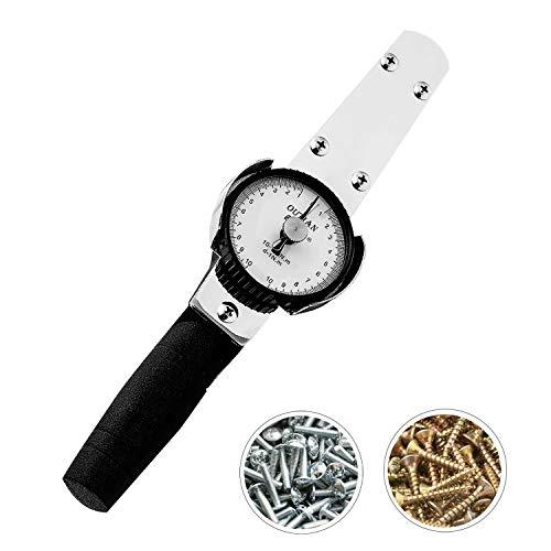 Newtry Digitaler Zeiger, Drehmomentschlüssel, Drehmomentmesser, Kraft-Test, 3/8 1/2 3/4 0-3000 Nm (0,5-5 Nm)