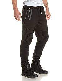 Sixth June - Pantalon de jogging homme noir à zips