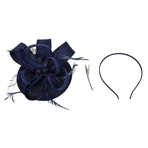 Beonzale Faszinator Kopfschmuck Elegant Flapper Stirnband Handgemachte Frauen Haarspange Feder Hochzeit Casual Fascinator Kopfschmuck Hut für Mädchen