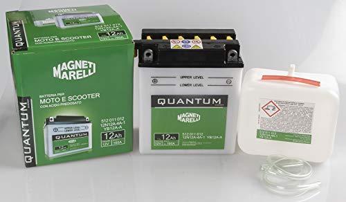 Batteria moto scooter 12Ah 12V 160A acido predosato Quantum