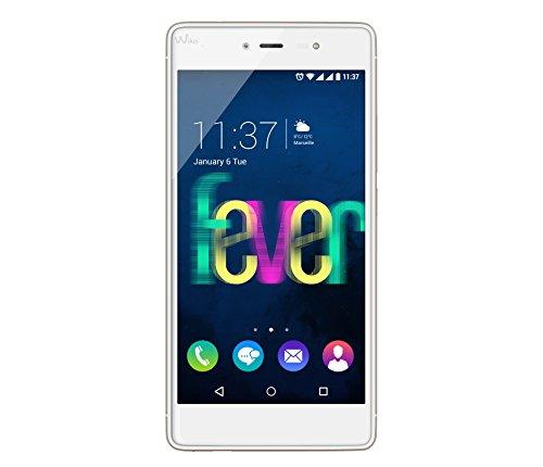 Wiko Fever Smartphone, Dual SIM, 64 GB, Bianco/Oro