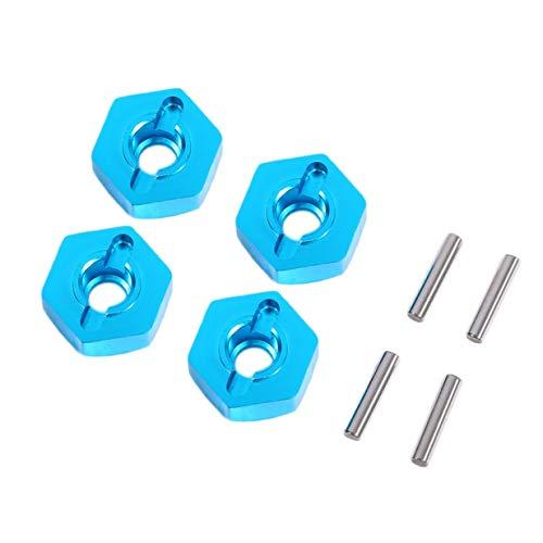 Banbie8409 4 stücke professionelle 12mm Rad hex hub Adapter dick mit stiften für rc Auto-Blau-