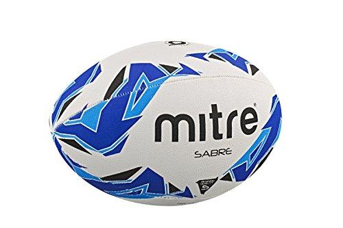 Mitre Sabre - Pelota de rugby, color blanco, talla Talla 5