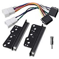 Car Radio Side Trim Bracket Facia Fascia Kit with ISO Wiring Harness Antenna Adapter For Toyota