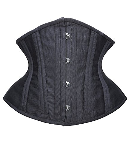 Camellias Short Torso Corset Double Steel Boned Tight Lacing Waist Training Shapewear, (Kostüme Ann Sommer)