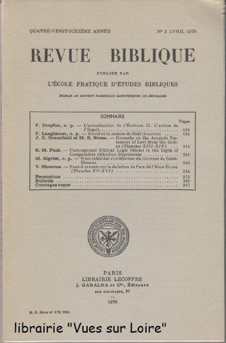 N°2 Avril 1979. F. Dreyfus, F. Langlamet, J.C. Greenfiel et M.E. Stone, S.M. Paul, M. Sigrist, Y. Blomme