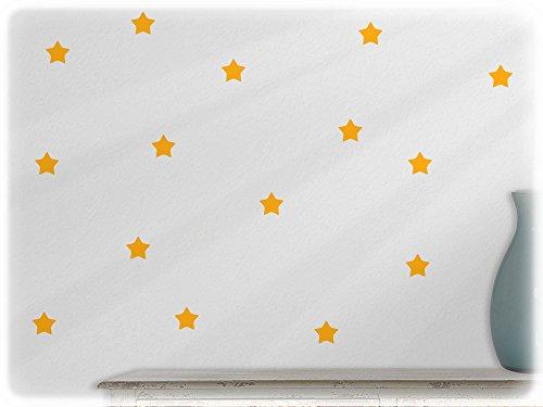wandfabrik - Wandtattoo - 60 tolle Sterne in goldgelb (70er Jahre Mode Australien)