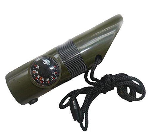 HWZNZ-HWSP Pfeife Kompass Mit Lichtern Sieben In Einer Pfeife Grün Thermometer Lupe Kompass 7-Funktion