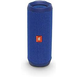 JBL Flip 4 - Enceinte Bluetooth portable robuste - Étanche IPX7 pour piscine & plage - Autonomie 12 hrs - Qualité audio JBL - Bleu