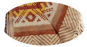 'Beties 'térmica mich' Manta aprox. 140x 200cm 'Mallo rquin para Manta horas Producto natural de 100% de ropa de algodón con flecos (sol), algodón, sol, 140x200 sonne