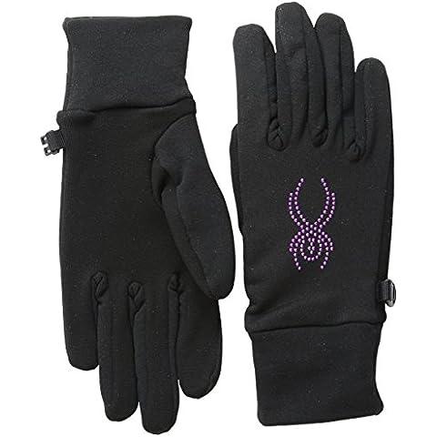 Spyder Guanti da sci Donna Elasticizzato condotta in pile, donna, Stretch Fleece Conduct, Black/Wild, S