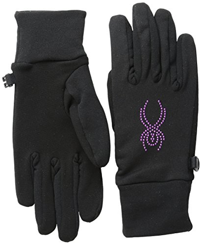Spyder Guanti da sci Donna Elasticizzato condotta in pile, donna, Stretch Fleece Conduct, Black/Wild, XS