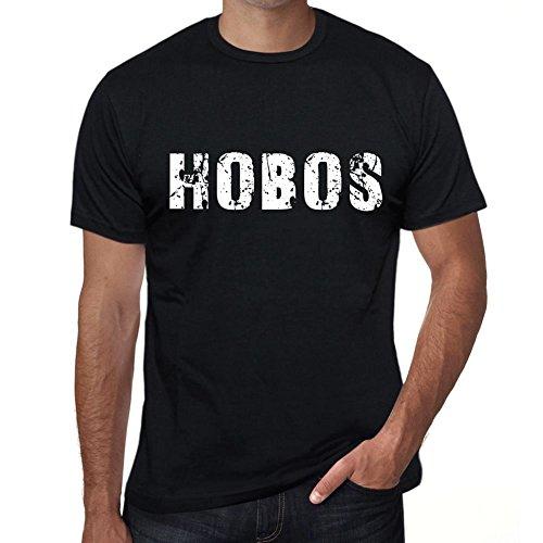 One in the City Hobos Herren T Shirt Schwarz Geburtstag Geschenk 00553 (0 Hobo)