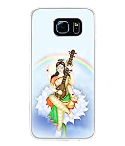 PrintVisa Designer Back Case Cover for Samsung Galaxy S6 Edge :: Samsung Galaxy S6 Edge G925 :: Samsung Galaxy S6 Edge G925I G9250 G925A G925F G925Fq G925K G925L G925S G925T (Bani Vani Gayathri Vidya Vidhya)