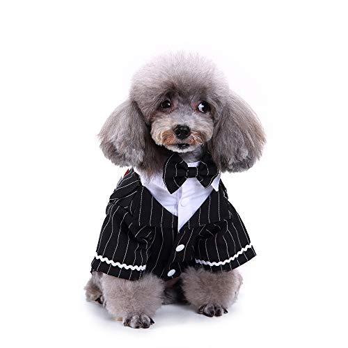 m Smoking Hochzeit Party Anzug, stilvolles Haustier Kostüm mit schwarzer Krawatte, die Hundekleidung lässt Ihren Hund wie EIN Prinz Aussehen ()