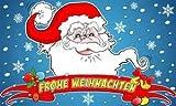 Weihnachtsmann mit Banner Schrift