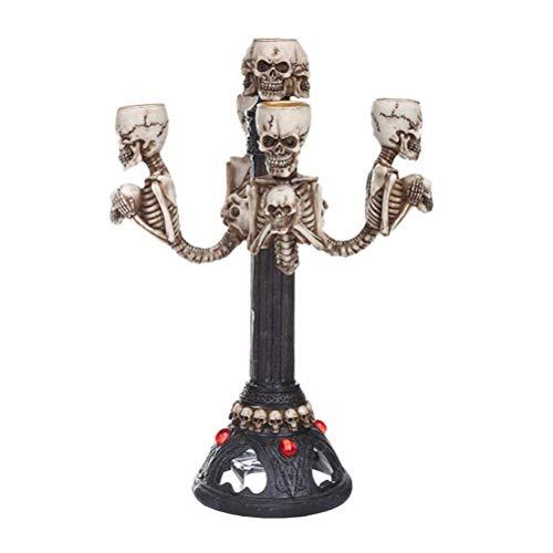 Moligh doll Candelabro Calavera Halloween Adorno Vela