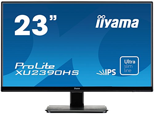 iiyama ProLite XU2390HS-B1 58,4cm (23 Zoll) AH-IPS LED-Monitor Full-HD (VGA, DVI, HDMI, Ultra-Slim-Line) schwarz 23 Led-lcd-monitor