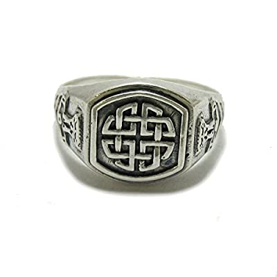 Bague homme celtique en argent sterling 925 noeud solide R001788