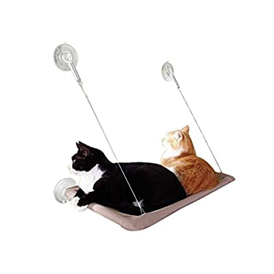 Anself Cat Window Mounted Bed Sunny Seat Pets Hammock Beds Washable Cover 22 * 12""