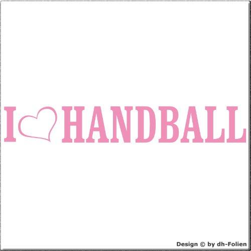 cartattoo4you AL-00682 | I LOVE (als Herz) HANDBALL | Autoaufkleber Aufkleber FARBE rosa , in 23 weiteren Farben erhältlich , glänzend 20 x 3 cm Waschstrassenfest Versandkostenfrei , Motiv Copyright by dh-Folien