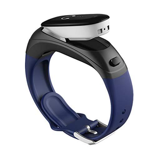 YWY Smart Watch V08 Business Intelligence Armband Wireless Bluetooth Headset Zwei-In-Eins Kann Herzfrequenz Bluthochdruck Wasserfeste Sport-Uhr Sprechen,Blue