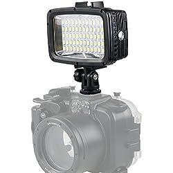 Orsda Underwater Diving Light 40M Etanche 60 LED Lampe de plongée Lampe vidéo Hicht Power Dimmable Lampe de plongée pour Caméra de Sport GoPro Hero XiaoYi SJCAM Sony Nikon Canon
