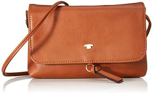 TOM TAILOR Umhängetasche Damen Luna Fall, Braun (Cognac), 20x12.5x2 cm, TOM TAILOR Handtaschen, Taschen für Damen