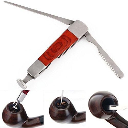 3in 1in acciaio INOX legno tabacco pipa strumento di pulizia Reamers