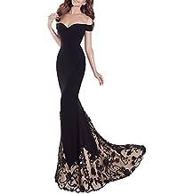 ZhuiKun Vestidos de Noche Mujeres Elegante sin Mangas sin Espalda Maxi Vestido de Fiesta Largos