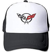 Wfispiy Unisex Corvette-Logo Baseball cap Snapback Adult Cowboy Hat Hip Hop Trucker Hat ABCDE13123